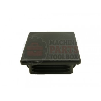 Lantech - Cap 60MM X 60MM For 3MM Thick Tube Black Plastic - 005119A