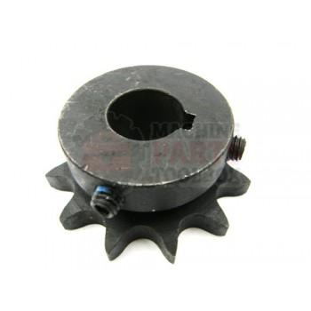 Lantech - Sprocket Metric 2.166 OD 12 Tooth 17MM Bore W/ 5MM Key 2 Set Screws (Hardened Teeth) - 30001005