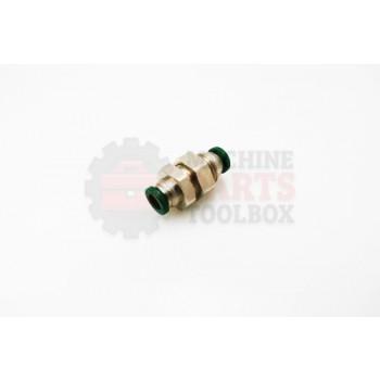 Lantech - Fitting Bulkhead Straight 1/4 IN NPT Tube Pushlock - 30003715