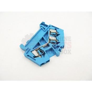 Lantech - Terminal Block Blue Cage Clamp 3P 28-12AWG Din Mount 600V 20A - 30005966