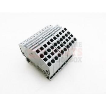 Lantech - Terminal Block Grey Cage Clamp 3 Pole 28-12AWG Din Mount 600V 20A - 30008798