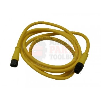 Lantech - Cable Electrical QD Micro 6P Dual Key 250V 4A 6FT 22AWG Straight/Straight MF - 30010171