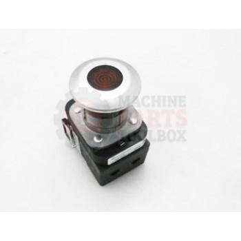 Lantech - SWITCH PUSH BUTTON 30.5MM TYPE 4/13 2 POS. PB-ILLUM. PUSH-PULL RED MUSHRM HD LED 24V AC/DC 1 NCLB-1 NO FINGER SAFE GUARDS - # 30110765