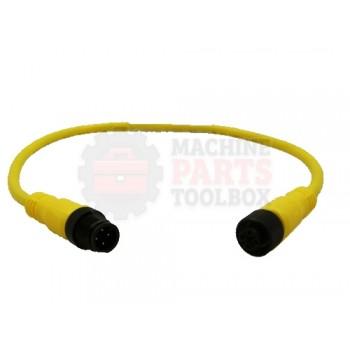 Lantech - Cable Electrical Extension 4COND 22AWG STR-F STR-M Micro QD 0.3M PVC - 30134171