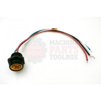 Lantech - Receptacle QD Mini 4P Male 600V 10A 1/2-14 NPT 12IN Lead - 30134191