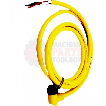 Lantech - Cable Electrical 4COND 16AWG 90DEG-F Mini QD 6FT PVC (Yellow) - 30134195