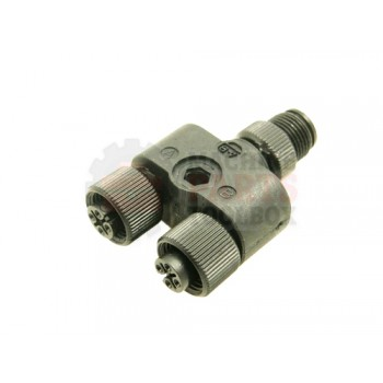 Lantech - Cable Electrical Accessory Splitter (1) 4P Male To (2) 4P Female Micro QD - 30134206
