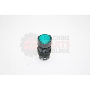 Lantech - Switch Accessory Illuminated Push Button Flush Head Round Green Led 16MM - 30138290