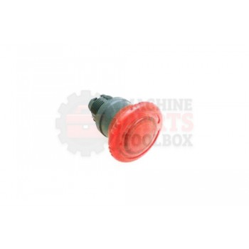 Lantech - Switch Push Button Head 22MM Push/Twist-To-Release Illuminated Red - 30138292