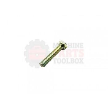 Lantech - Fastener Bolt M5X0.8 X 25MM HEX Head Cap ZINC Plated Steel DIN931 - 001680A