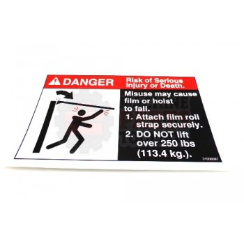 Lantech - Label Danger Risk Of Serious Injury Or Death - 31006087