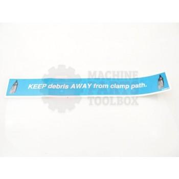Lantech - Label 'Keep Debris Away From Path' - 31006210