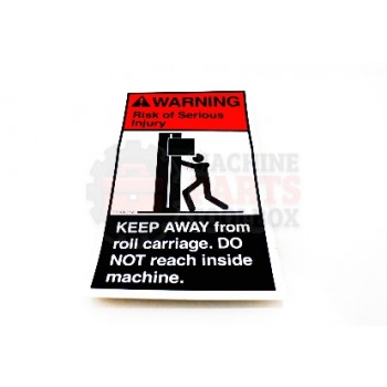 Lantech - Label Warning 'Keep Away From Roll Carriage' - 31006256