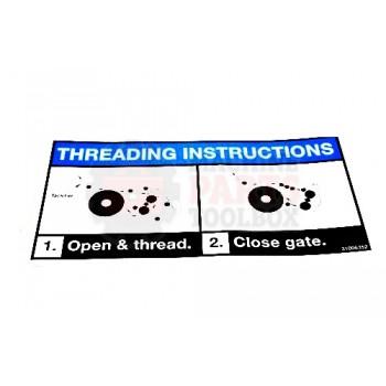 Lantech - Label Instruction 'Threading Q Automatic' - 31006352