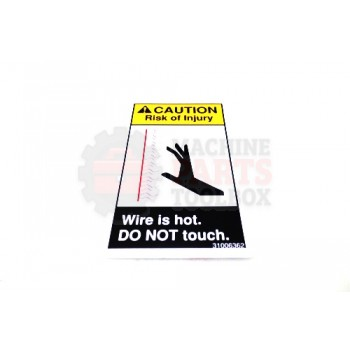 Lantech - Label Caution 'Wire Is Hot Do Not Touch' Vertical - 31006362