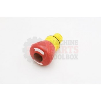 Lantech - Switch Push Button Head 22MM Push/Twist-To-Release Illuminated Red - 31006813