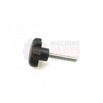 Lantech - Knob Seven Lobe Round Nylon Black W/ M6 X 30MM Stud -303 Stainless Stud - 31010754