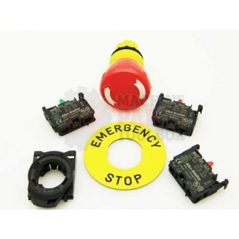 Lantech - Kit Operator E-Stop 22.5MM Non-Illuminated 40MM DIA Twist-To-Release 1NO/2NC - 31014399