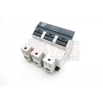 Lantech - Fuse Block 3P Class J 600V 30A Finger Safe Din Rail Mount - 31023251