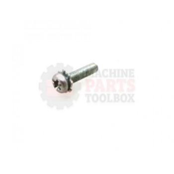 Lantech - Screw Machine M3 X 0.5 X 12MM PH ZINC SEMS External - 31025157