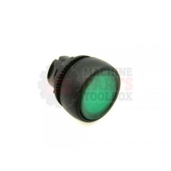 Lantech - Switch Push Button Head 22MM Momentary Illuminated Green Flush - 31028520