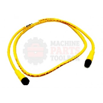 Lantech - Cable Electrical Extension 4COND 18AWG STR-F STR-M Micro QD 1M TPE Flex Rated - 31036692