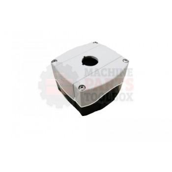 Lantech - Enclosure 1 Hole 22.5MM Gray Plastic Knockout Type PG - 31041650