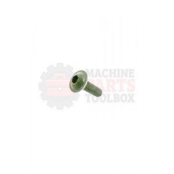 Lantech - Fastener Screw Machine Button Head M6 X 1.0 X 20MM Flanged Black Oxide Grade 10.9 - 31048752