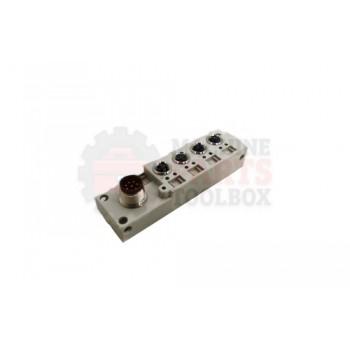 Lantech - Cable Distribution Block 4 Ports M8 1IN/Port IP65/67 M12X8P - 31058967