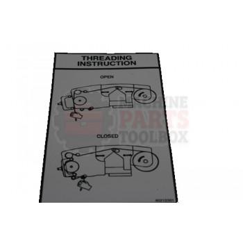 Lantech - DECAL Threading Instruction: V-Straddle STD - 40212201