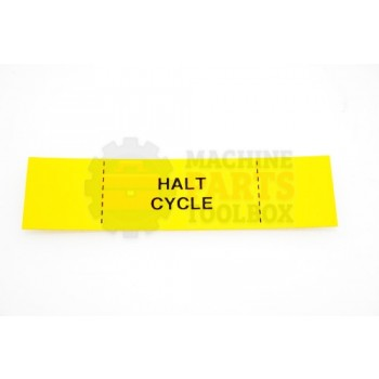 Lantech - Label Yellow Halt Cycle - 50187601