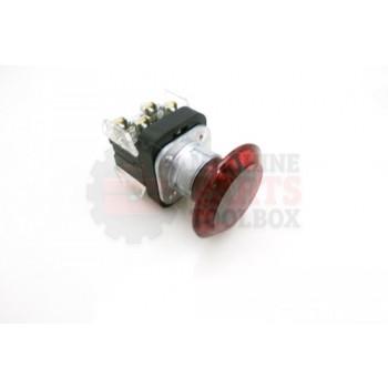 Lantech - Switch Push Button Assembly 30.5MM Push/Pull Illuminated 24V Red Jumbo Mushroom Head 1NO/1NCLB Nema 4/13 - C-005600