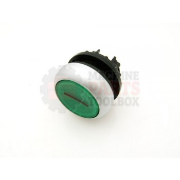 Lantech - Switch Push Button Green Illuminated Plate 1 - EC10638