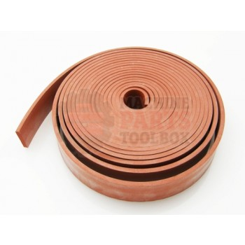 Lantech - Pad Silicone 1 Inch Wide 1/8 Inch Thick 50-60 DURO (Sold By The Inch - Ask How Long Of A Piece Is Used At A Time) - M2183000