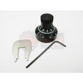 Lantech - Knob Round AnODized Aluminium Black Calibrated Dial For 10 Turn Potentiometer - P-005455