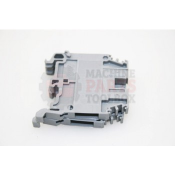 Lantech - Terminal Block Gray Screw 2P 24-10AWG Din Mount 600V 30A - P-010538