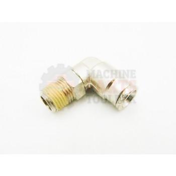Lantech - Fitting Air 1/4TBG-1/8NPT 90 Deg Swivel - P-010797