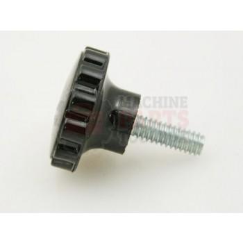 Lantech - Knob Round Plastic Black Clamping 1-1/4 DIA W/ 1/4-20 X 3/4 Threaded Stud (700 Minimun Order) - P-011542