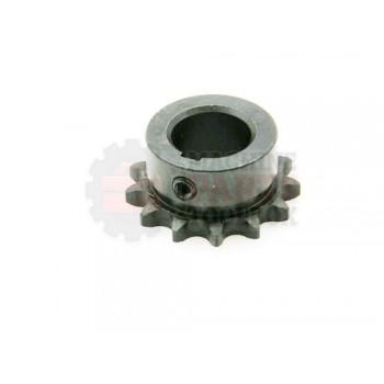 Lantech - Sprocket Metric 06B13H 13 Tooth 3/4IN Bore W/ 5MM Key 2 Set Screws (Hardened Teeth) - P-404391