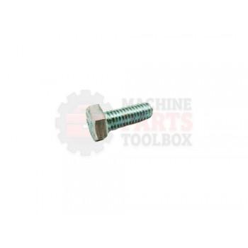 Lantech - Fastener Bolt M6X1 X 16MM Hex Head Cap Class 8.8 Zinc Plated Steel - P-SH0616