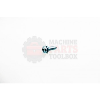 Lantech - Fastener Screw Machine M4X.70 X 12MM Pan Head With External Locking Washer (AKA-Sems Screw) - S-008081