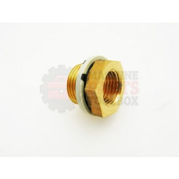 Lantech - Fitting Pneumatic Reducing Bushing G 3/8 ISO Male Thread X G 1/4 ISO Female Thread - 002791A