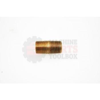 Lantech - Fitting Nipple Close 1/8 NPT Brass - 35000175