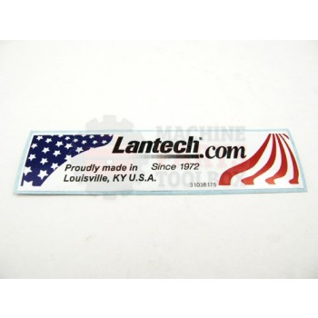 Lantech - LABEL LOGO 'MADE IN THE USA' (REPLACES 30023004) - # 31038175