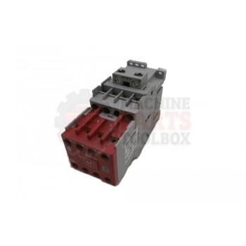 Lantech - CONTACTOR 24VDC 23A 3 POLE 3 N.O. 2 N.C. AUX SAFETY LINE SIDE COIL & INTERGRATED DIODE - # 30165415