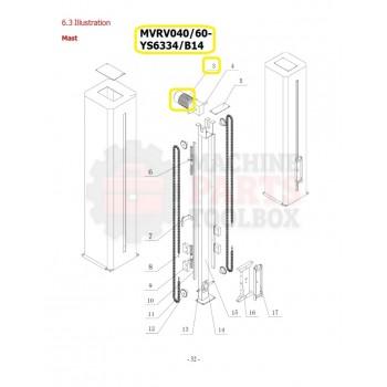 Eagle - Motor - # MVRV040/60- YS6334/B14