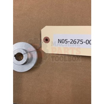 Shanklin - Drive pulley on motor, selvage winder - # N05-2675-001, N05-2675-002