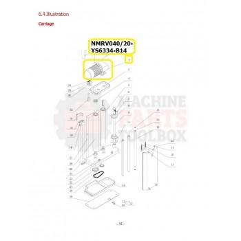 Eagle - Pre-Stretch Motor - # NMRV040/20- YS6334-B14