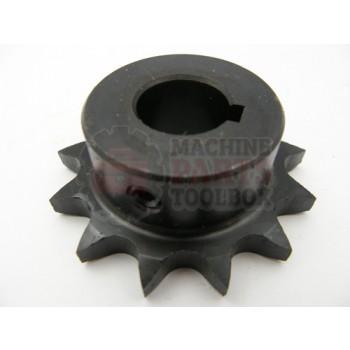 Lantech - Sprocket Metric 08B13H 17MM Bore W/ 5MM Key 2 Set Screws (Hardened Teeth) - P-404389