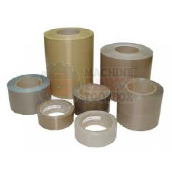 "Teflon Tape - 1-1/2"" x 3mil x 36yd Zone Tape with Silicone Adhesive with 1/2"" Zone"